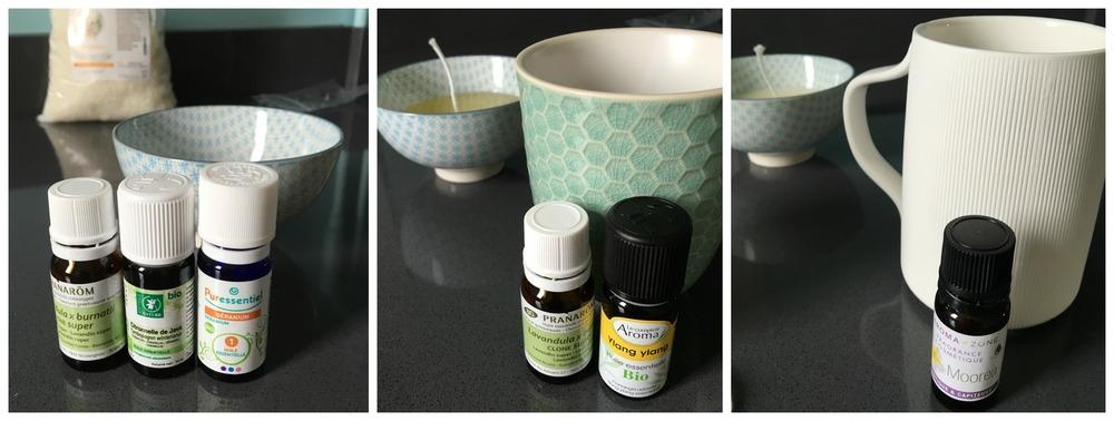 Notre choix de parfums pour les bougies ..Ylang-Ylang, Monoi, Lavande, Geranium et Citronelle..