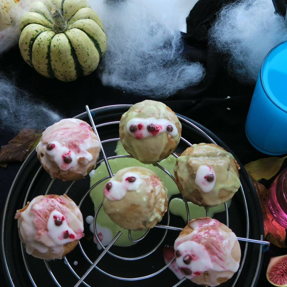 halloween vegan muffin gingerbread