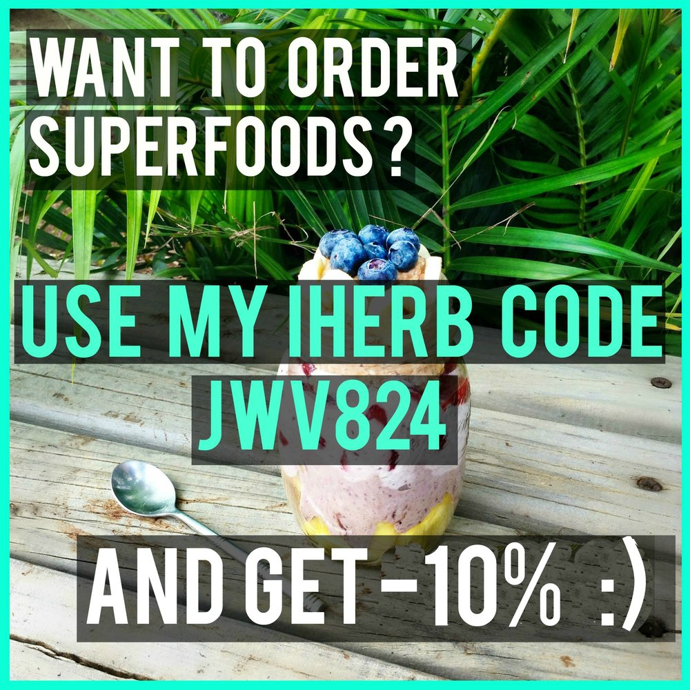 Utilise mon code JWV824 et obtiens -10%sur  iherb.com  !