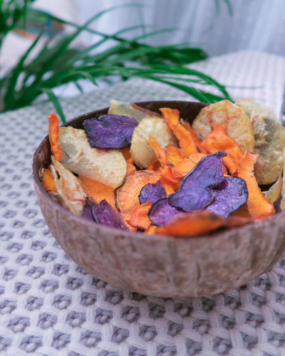chips legume microonde