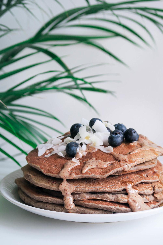 vegan high protein pancakes GF healthy