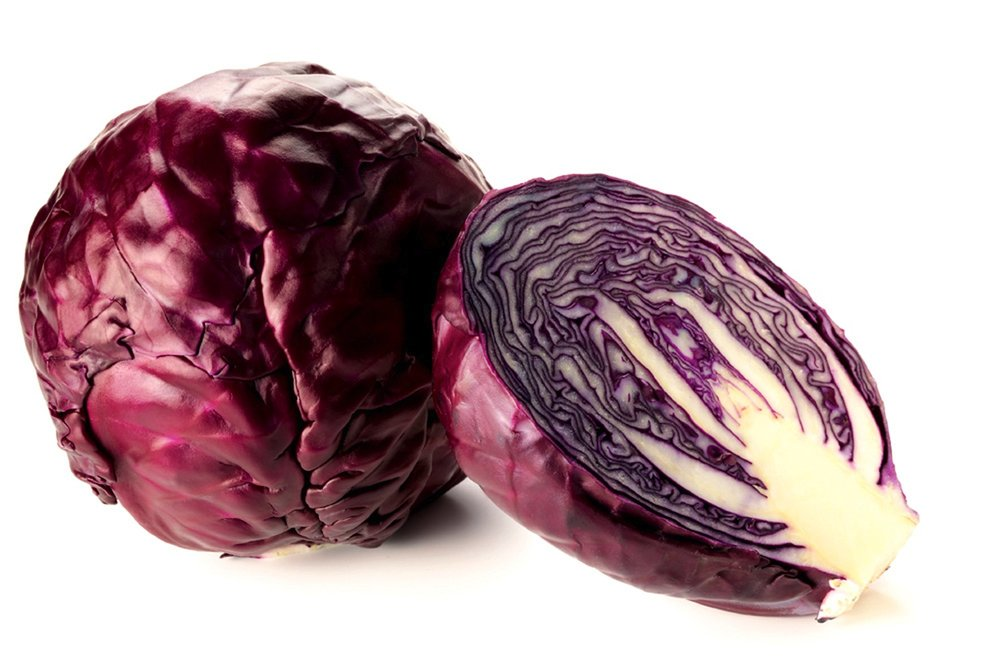 red cabbage blue color