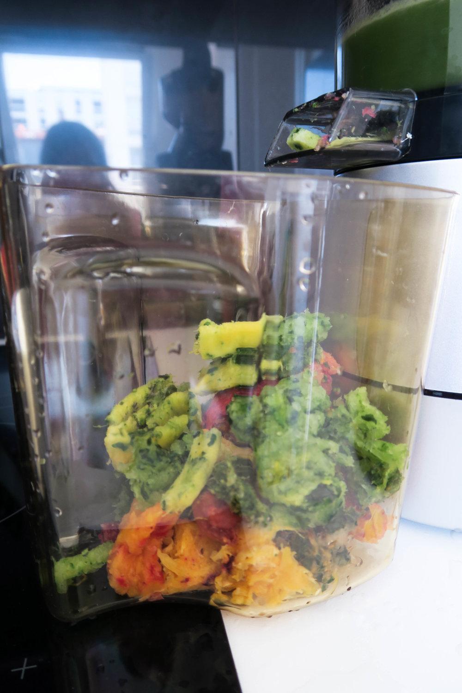 Voici la pulpe restante obtenue après extraction des recettes des 3 jus !
