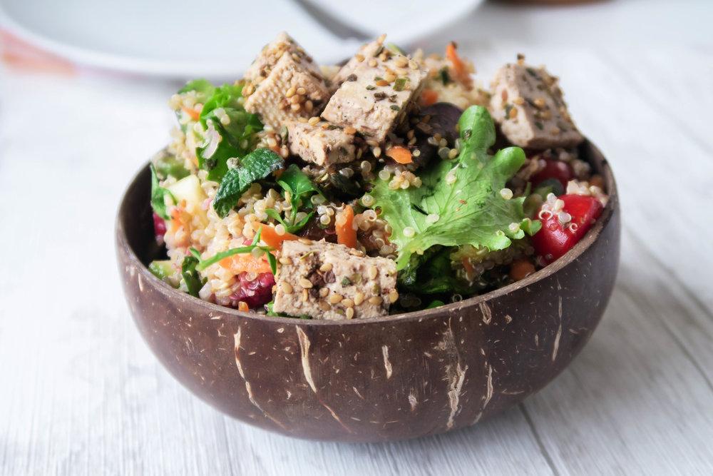 Quinoa Salade - recette dans mon  ebook
