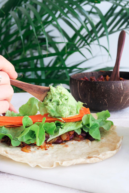 vegan coconut burrito