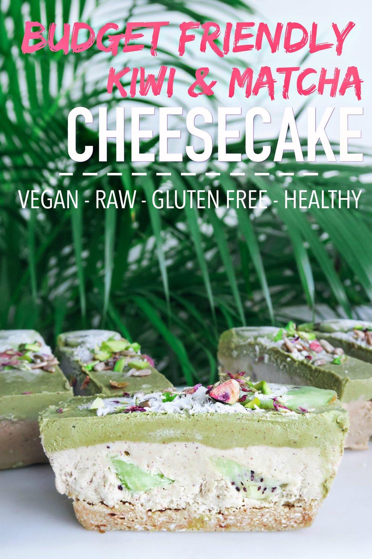 Kiwi & Matcha Raw Cake (Vegan, Raw, GF, Cashew-Free, Healthy)