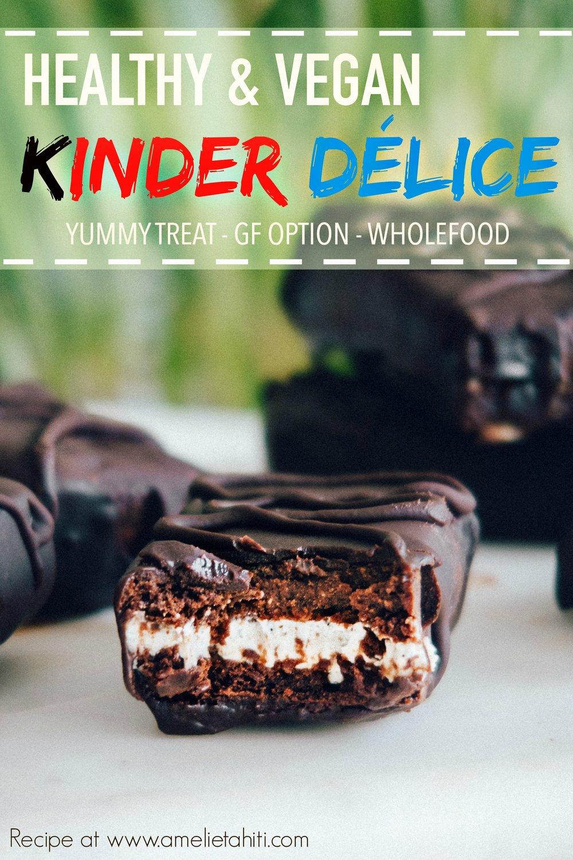 Vegan Kinder Délice - Healthy & Wholefoods (Recipe at www.amelietahiti.com)