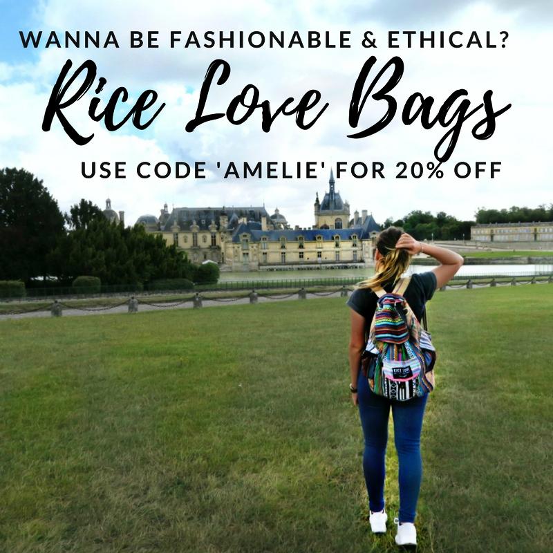 """RiceLove Bags --  utilisez le code """"AMELIE"""" pour 20% OFF !"""