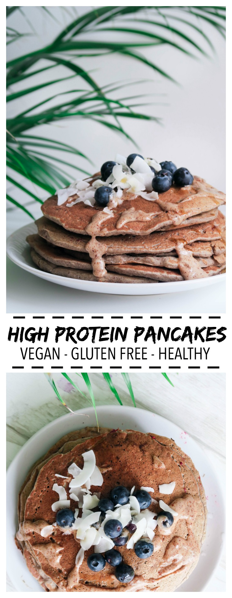 Vegan High Protein Pancakes - amelietahiti.com