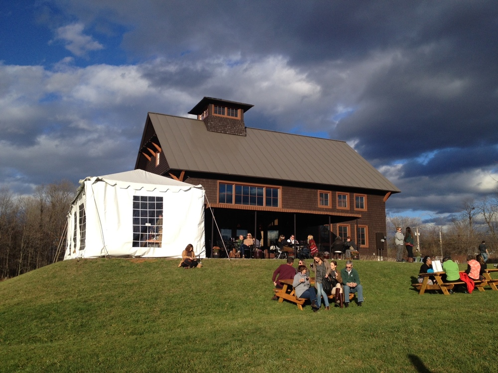 Tasting room and outdoor tented event