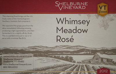 2012 Rose label