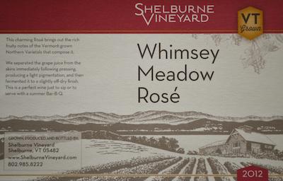 2012 Rose label