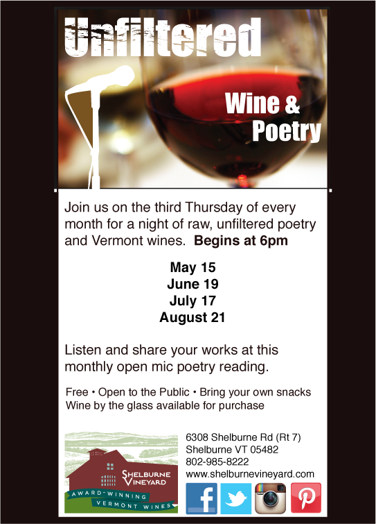 Unfiltered monthly wine and poetry