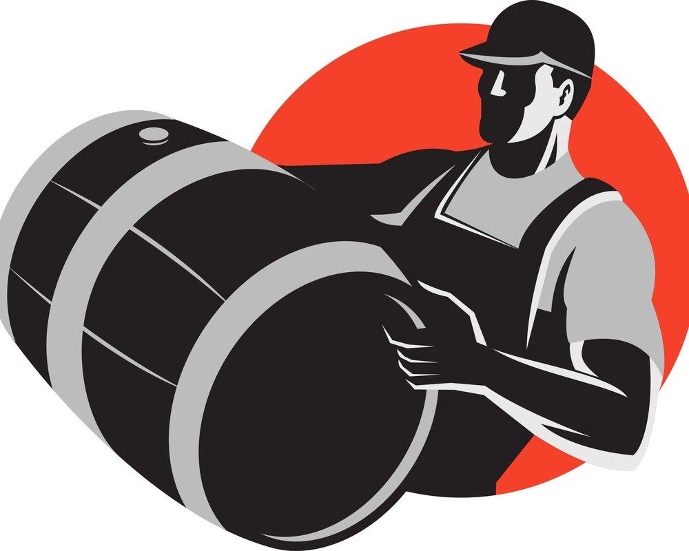 Assistant winemaker on barrels