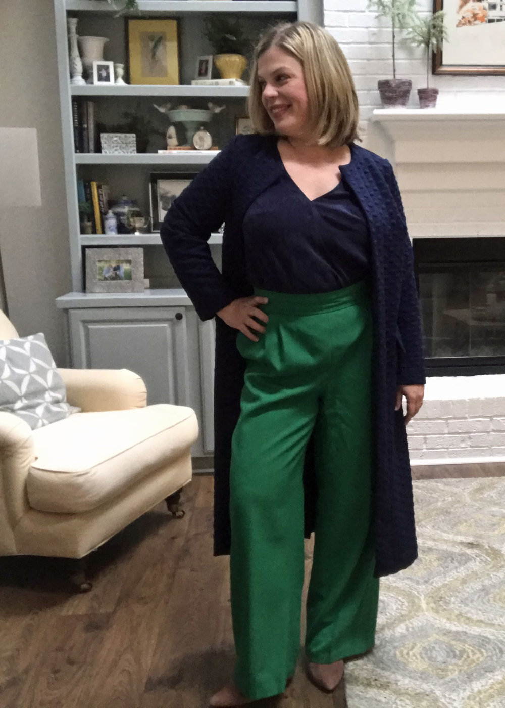 S8093 Top with SOI Camille Pants and S8177 Cardigan