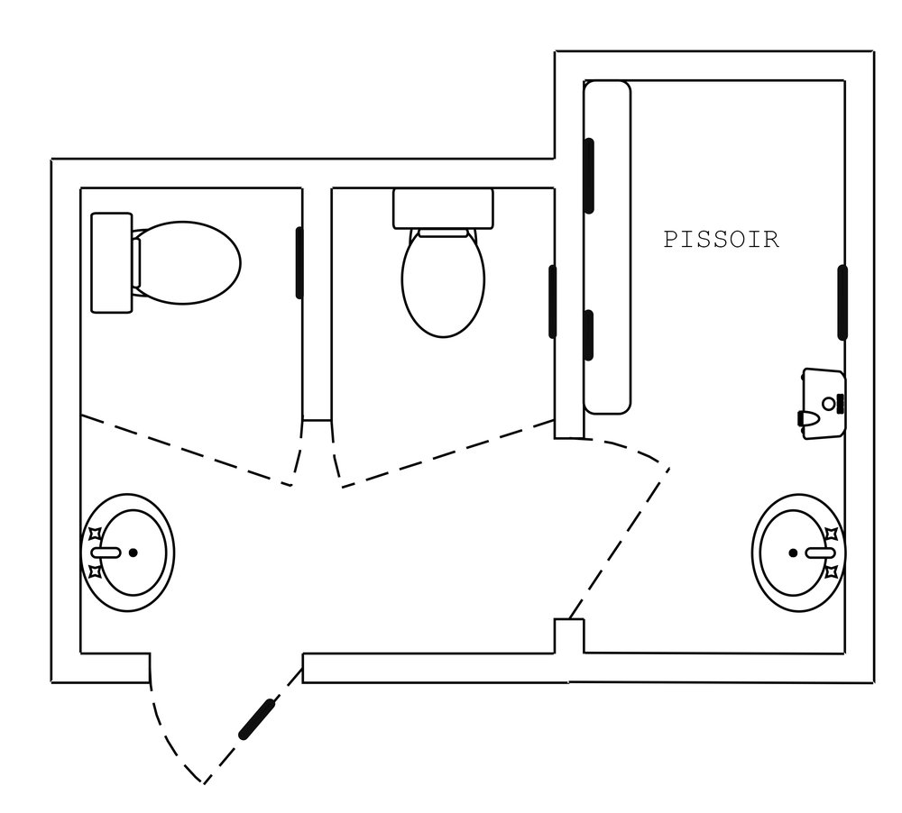 The blueprint of the rooms.