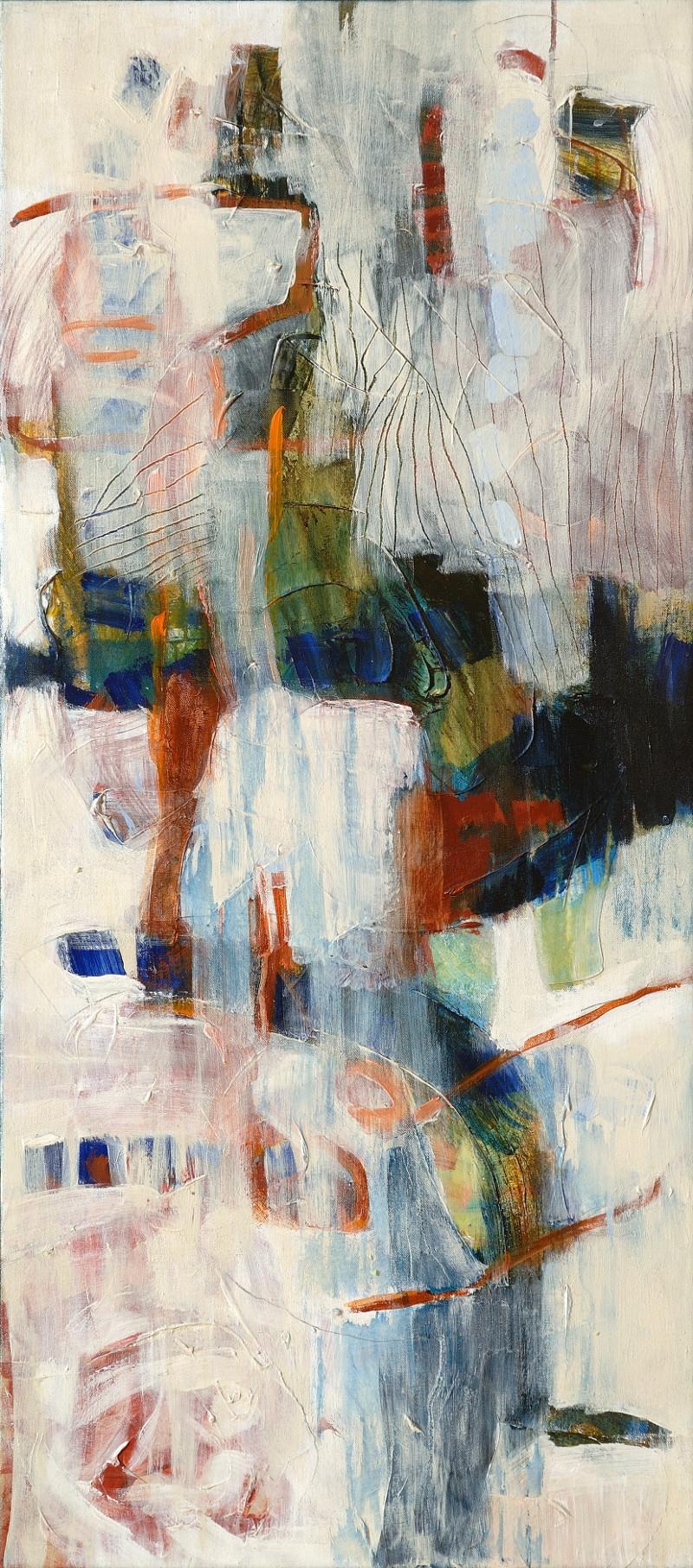 Blanc et lignes orange 2, 2006