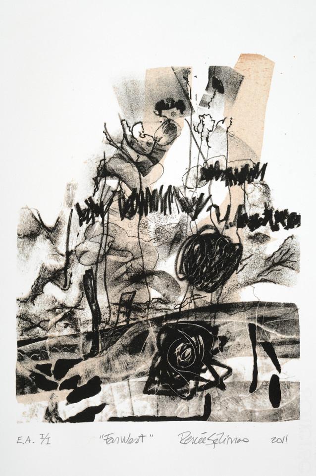 FarWest - lithographie sur pierre, 2011