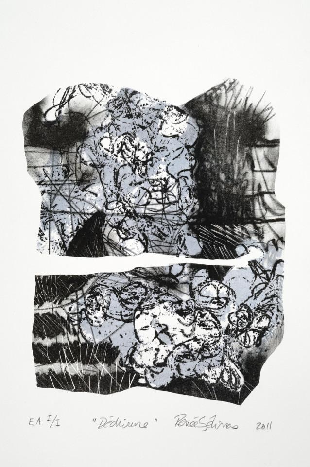 Déchirure - lithographie sur pierre, 2011