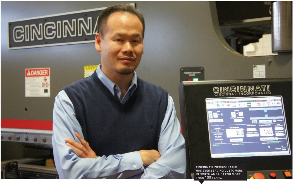 "Headquarters:  Harrison, Ohio |  Employees:  400 |  Specialty:  Machine Tools |  Carey Chen, CEO and President:   ""We are reinvigorating the company's never-ending journey."""