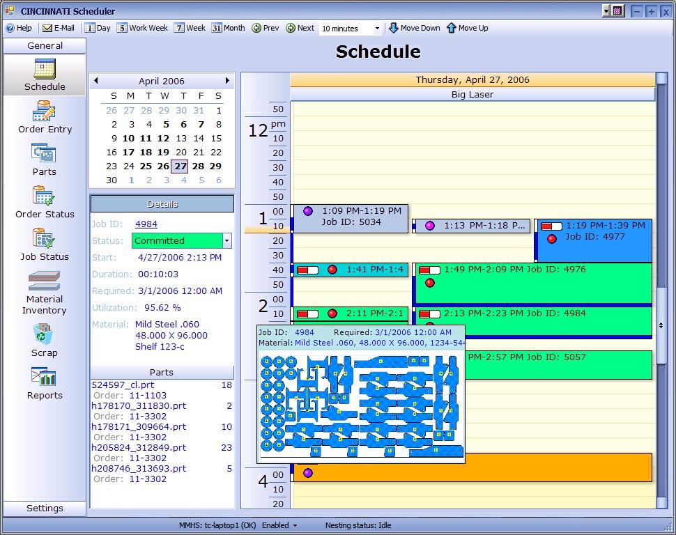 Calendar View in Scheduler Software