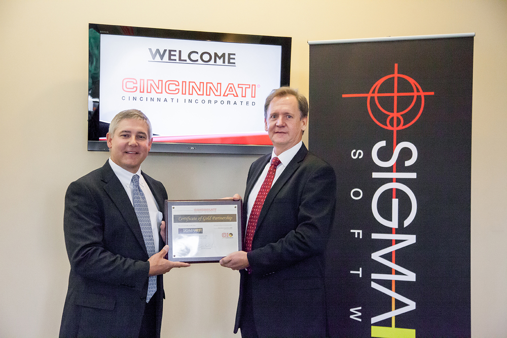 SigmaNest Receives Gold Partner Certificate