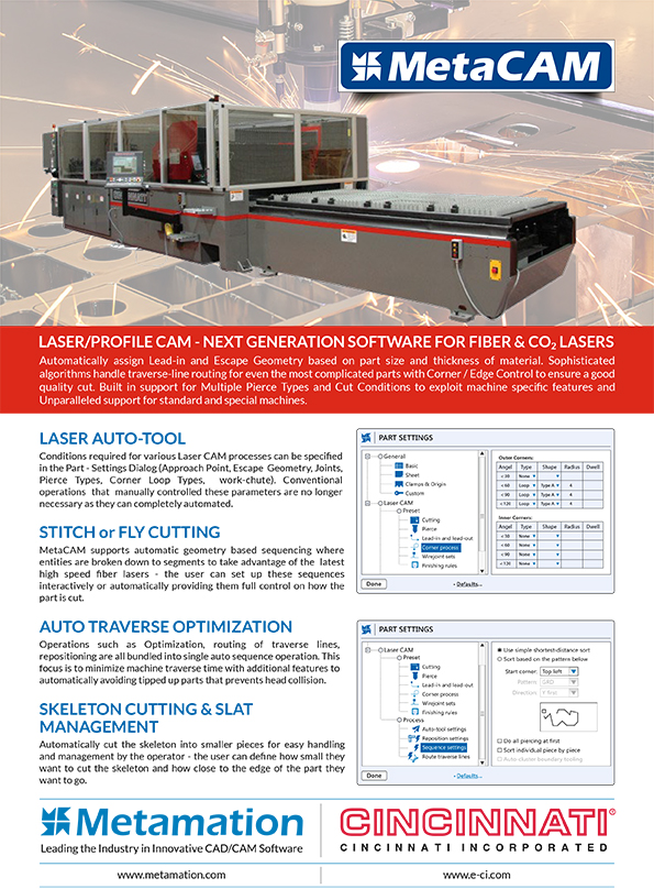 METAMATION CINCINNATI LaserCAM Flyer