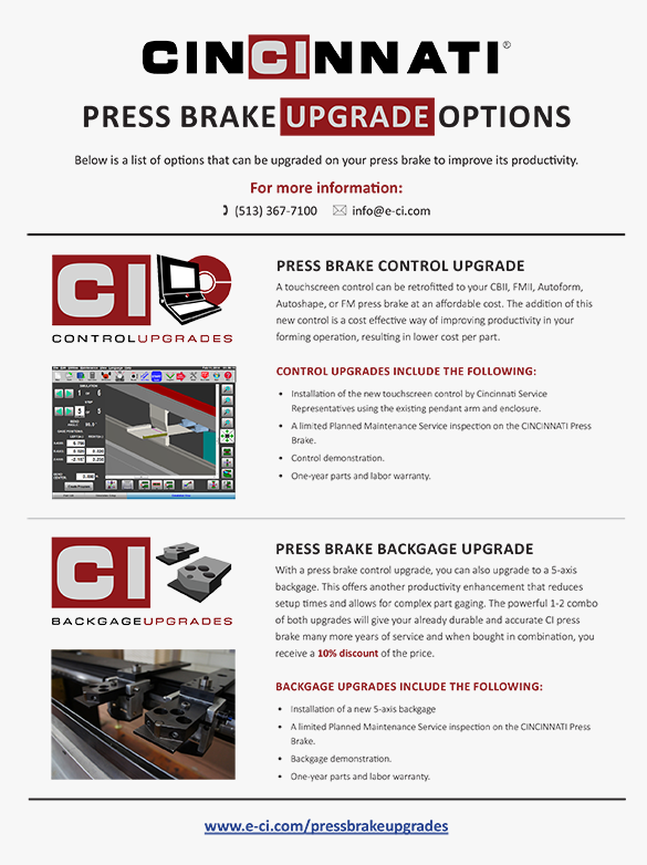 Press Brake Upgrades Flyer