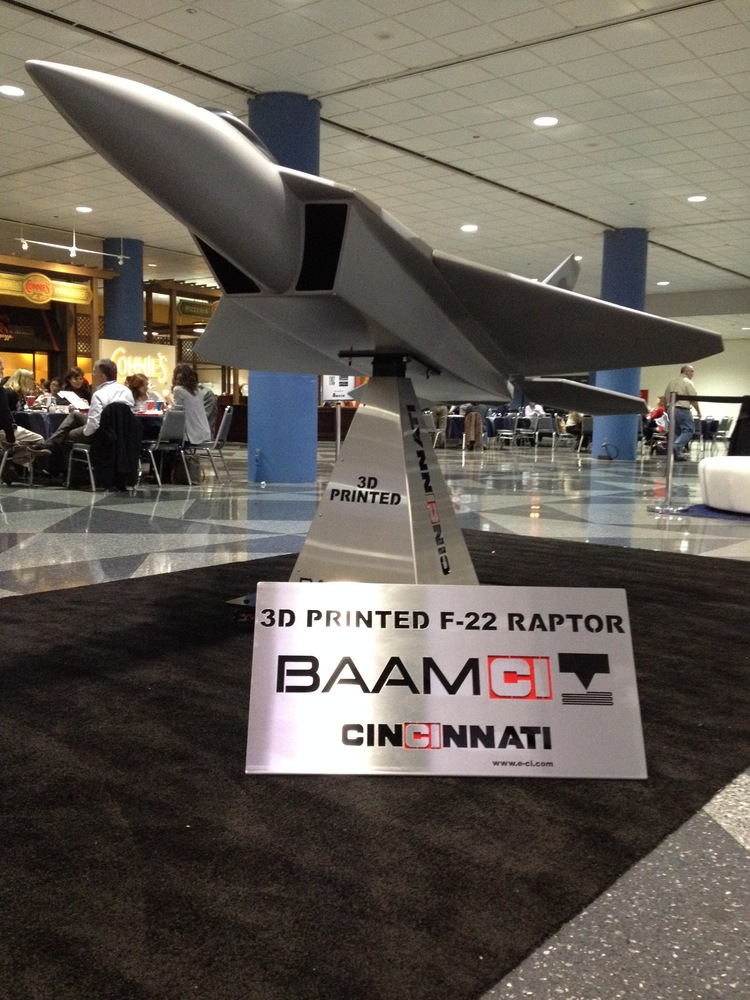 BAAM 3D Printed F-22 Raptor Replica at Fabtech 2015