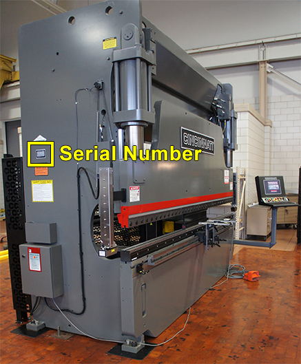 Hydraulic Press Brake Serial Number Location