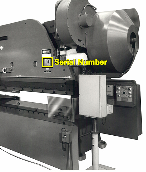 Mechanical Press Brake Serial Number Location