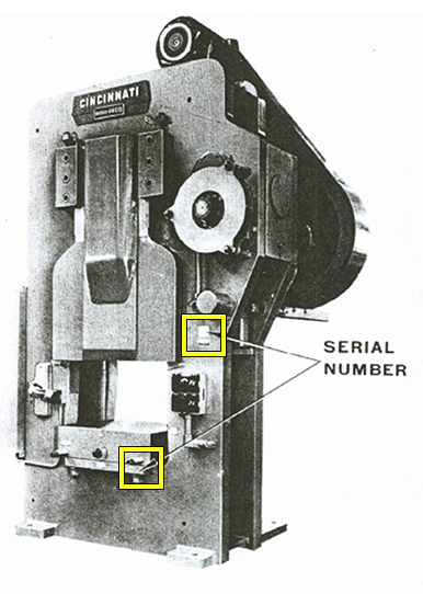 Rigid Press Serial Number Location