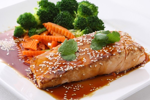 Southeast Asian Marinated Baked Salmon