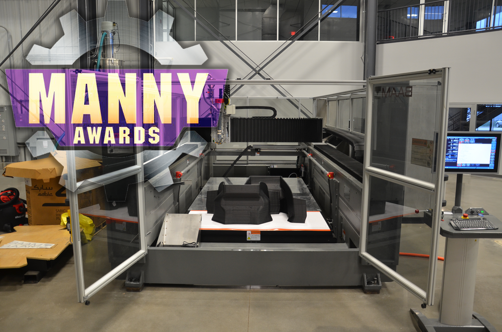 BAAM 3D Printer wins Manny Award