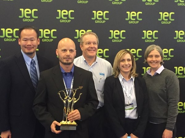 Carey Chen, President & CEO of CI, and Craig Blue, Director, Advance Manufacturing Office of ORNL, were present at the March event, a worldwide competition in composites innovation, to collect the top prestigious innovation award selected across two dozen global industries.