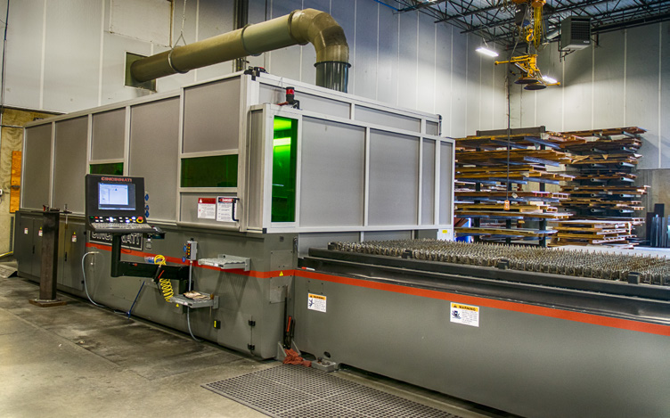 To produce a wide range of parts, N.J. Sullivan relies on its Cincinnati Inc. fiber laser system.