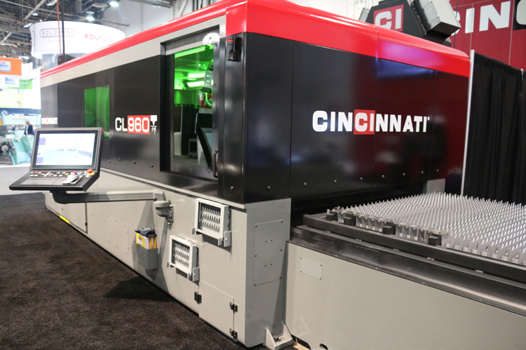Seen at Fabtech 2016 in Las Vegas, this Cincinnati Inc. fiber laser cutter highlights the various considerations fabricators must keep in mind when they're in the market for new equipment.