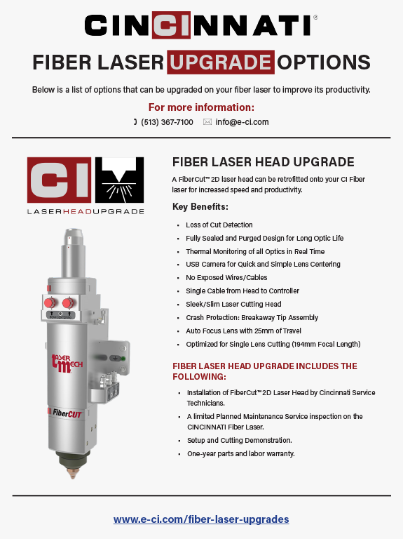 Fiber Laser Upgrades Flyer