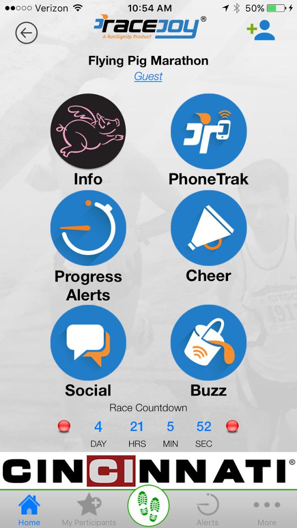 CI Sponsored RaceJoy App