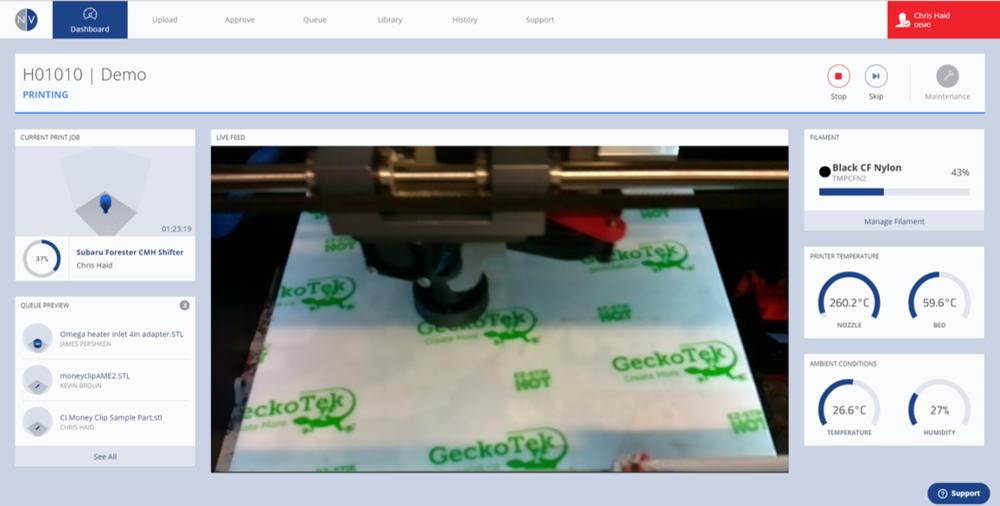 CI Print Dashboard