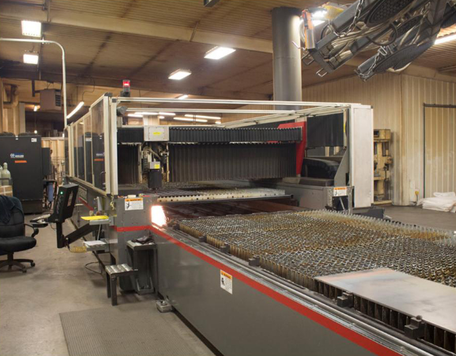 Custom Fabricators Inc. (CFI) recently invested in a Cincinnati Inc. (CI) CO2 CL 446, which is the fastest machine in its collection of multiple laser cutters.