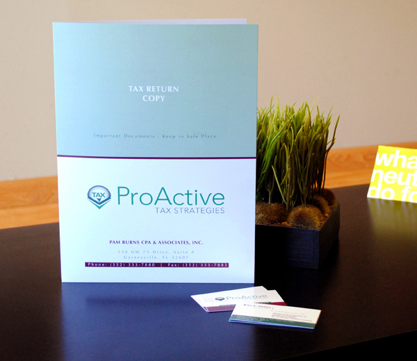 Presentation Folder and Business Cards