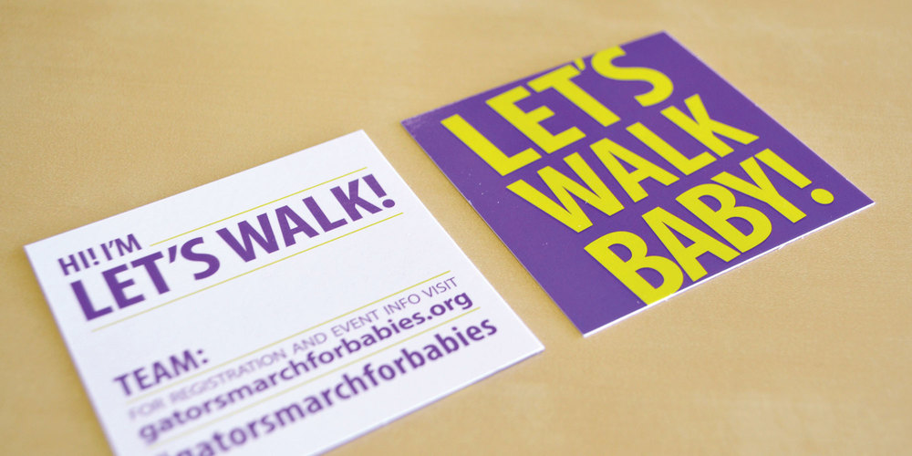 March of Dimes - Let's Walk Baby Campaign - Flyers