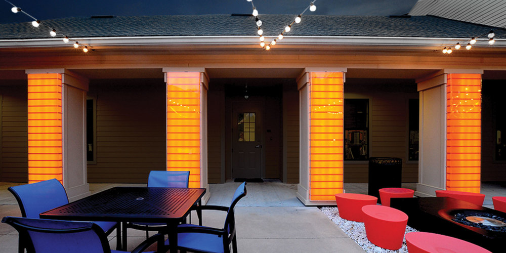 neutral design custom backlit fixtures