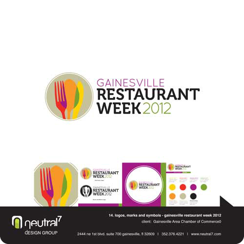 Gainesville Restaurant Week Event Branding