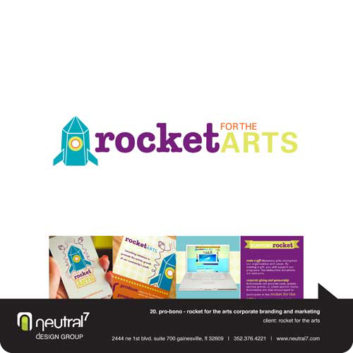 Rocket for the Arts Nonprofit Branding