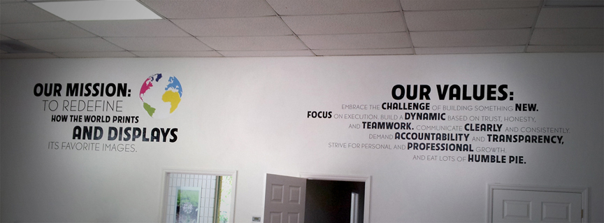 neutral7 graphic design gainesville fracture large format printing wall graphics installation