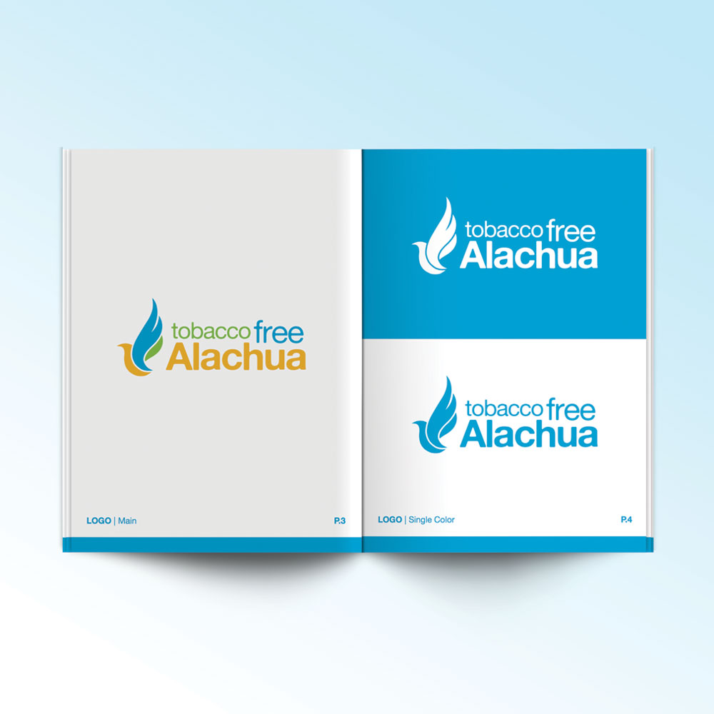 neutral7 graphic design tobacco free alachua branding guide booklet