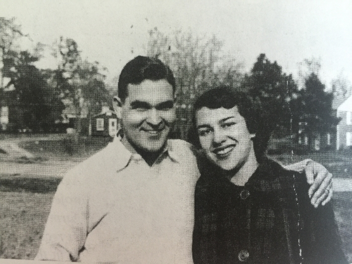 My mom and dad on Thanksgiving, 1952 in Macon, GA