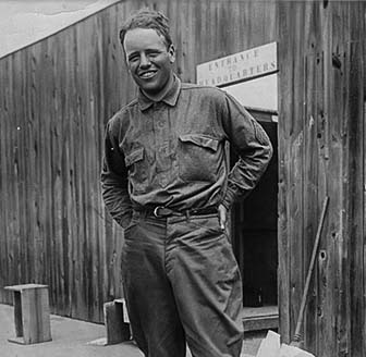 Quentin Roosevelt, Theodore Roosevelt's youngest son posing in his Air Force military uniform.